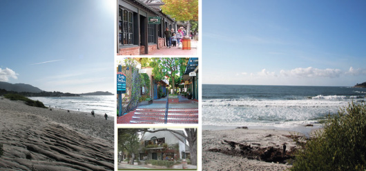 Carmel-By-The-Sea  - Beach and Ocean Ave (storefronts from web)